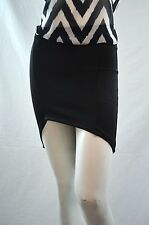 Juniors Trend Theology Asymmetrical Skirt Solid Mini 96% polyester, 4% spandex