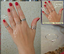 Band Rings Chic Midi rings Modern Plain Skinny rings Oxidized rings Any size