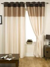 Harmony Striped Faux Silk Ready Made Curtains - Eyelet / Ringtop & Fully Lined