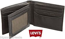 Levi's Leather Wallet Metal Box Black Brown Slim Bifold Levi Strauss 31LV1344
