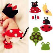 Newborn Baby Hat Cap Crochet Knit Animal Birthday Outfits Photography Photo Prop