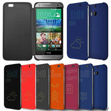 Ultra Slim Dot View Flip Smart Multi-Function Case Cover for HTC One M8  M9 Plus