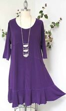 Dare2bstylish Lagenlook Plus size Tunic Dress up to 4XL in PURPLE