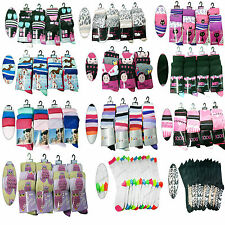 12 Pair Ladies Women Assorted Fashion Lot Outdoor Everyday Socks Size UK 4-6 New