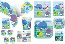 1st FIRST BIRTHDAY BOY PARTY TABLEWARE DECORATIONS BALLOONS UNDER THE SEA PALS
