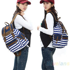 Hot Womens Mens Chic Canvas Leisure Bag School Travel Rucksack Backpack