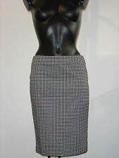 ARMANI JEANS BLACK AND WHITE PENCIL COTTON SKIRT BNWT