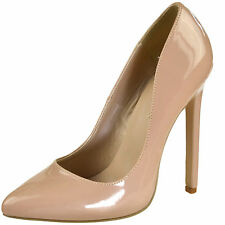 PLEASER High Heel Pointed Toe Pumps Classic Patent Womens Shoes SEXY-20 Nude