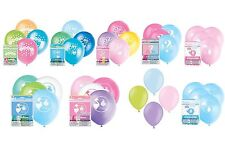 Baby Shower Balloons Latex Party Decoration Boy Girl Air Helium Pink Blue