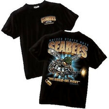 """NEW USN Navy SEABEES """"We Build - We Fight"""" Military T-Shirt by Black Ink Designs"""