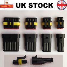 Tyco AMP Electrical Waterproof Connector 1 2 3 4 5 6 Pin Way Superseal Car Boat