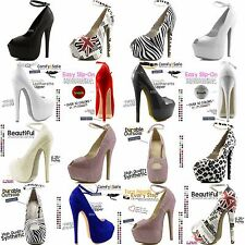 Ankle Peep Toe Hidden Platform Stiletto Pump Bridal Sexy Club Party Dress Shoes