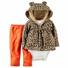 Carters Newborn 3 6 9 12 18 24 Months Cardigan Bodysuit Set Baby Girl Clothes