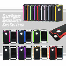 For Apple iPhone 6 4.7 6 Plus 5.5 Black Rugged Rubber Matte Hard Case Cover