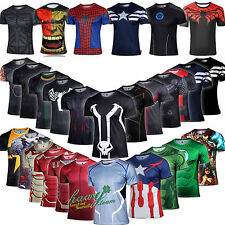 35 TYPE Marvel Superhero Cosplay Mens T-shirt Shirts Cycling Jersey Sport TEE