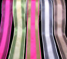 "Rare HTF Piccadilly Striped Wired Ribbon 2"" Wide"
