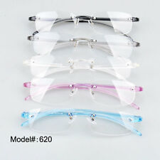 620 Fivecolor unisex rimless plastic optical frame eyewear eyeglasses spectacles