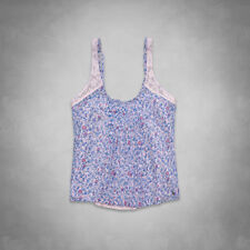 Abercrombie & Fitch Chloe Top Womens Pink Blue Floral Tee Shirt Tank New NWT