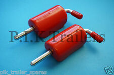 FREE P&P* 2 x 150mm Spring Latch Shoot Bolt & Red Cover for Trailers Horsebox