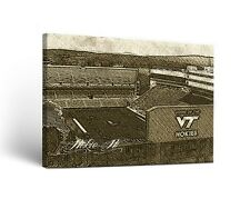 Virginia Tech Hokies Canvas Wall Art Sketch Design