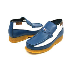 British Walkers Men's Checkers Blue / White Slip-on Shoes 3636-07