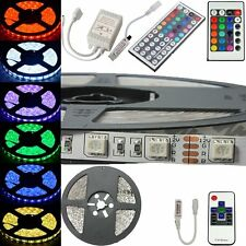 5M Non-Waterproof SMD 5050 RGB LED Strip Lamp Light 24/44Keys IR RF Controller