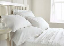800 1000 1200 1500 TC Thread Count Hotel White Solid Bedding Combo 100 % Cotton