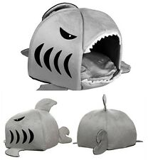 Comfortable Shark Mouth Pet Dog Cat House Removable & Washable Dog Bed Kennel