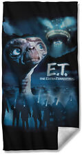 E.T. THE EXTRA-TERRESTRIAL TITLE BEACH TOWEL  FREE SHIPPING IN US