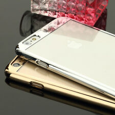 Luxury Silicone Ultra-thin Mirror Metal Case Cover For iPhone 6 4.7 Plus 5.5