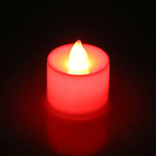 24pcs Flameless Battery Operated LED Tea Light Tealights Home Candles Colorful