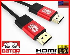 PRO HDMI Gator Cable V1.4 3D 1080P HDTV LCD LED PS4 PS3 XBOX BLURAY Gold USA LOT