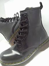 Girls ankle boots kids flat lace doc martin style combat classic boot BLACK Zara