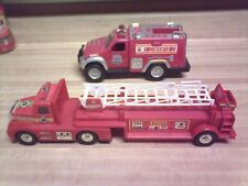 tonka rescue force/and remco tractor trailer ladder truck great condition