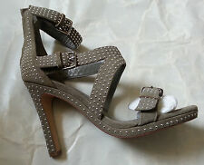 KAREN MILLEN grey suede leather studded heel shoes uk 4,5,6,7 FJ121 NWB £165