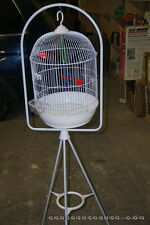 "5-2-3 SET  Round Bird Cage small canaries parakeets Capacity  WITH 61"" STAND"