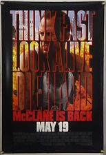 DIE HARD WITH A VENGEANCE DS ROLLED ADV ORIG 1SH MOVIE POSTER BRUCE WILLIS(1995)