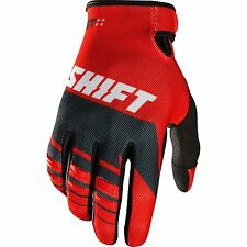 NEW SHIFT RACING MENS GUYS ADULT MX ATV RIDING RED ASSAULT GLOVES