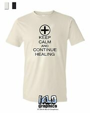 KEEP CALM and CONTINUE HEALING T-SHIRT S, M, L, XL, XXL MMO RPG Gaming Gamer