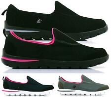 LADIES WOMENS COMFORT SPORTY TRAINERS HOLIDAY GO WALKING SHOES SIZE