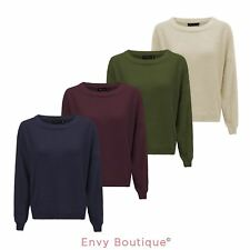 BRAVE SOUL WOMENS LADIES OVERSIZE KNITTED JUMPER FLUFFY LOOSE BAGGY SWEATER TOP