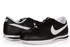 MEN'S NIKE CORTEZ BASIC LEATHER BLACK WHITE ORIGINAL AUTHENTIC NIKE NEW SHOES