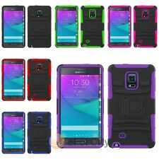 For Samsung Galaxy Note Edge Heavy Duty Armor Cover Case w/ Holster Stand