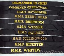 Royal Navy HMS Cap Tally's Sailor's Hat, Commander in Chief, HMS Wessex, etc