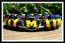 Michigan Wolverines Paracord Bracelet Officially Licensed NCAA Collegiate Charm