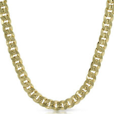 10mm Gold Plated Italian Curb Link Mens Chain Necklace