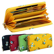 Ladies Purse Wallet Purse Case Ladies wallet Clutch with flowers