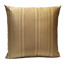 Gold (Tan) Silk Decorative Throw Pillow Cover with Stripe Pattern,Accent Pillow
