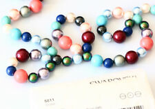 Genuine SWAROVSKI 5811 Round Large Hole Crystal Pearls Beads * Many Colors