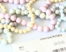 Genuine SWAROVSKI 5811 Crystal Round Pearl Beads * NEW Pastel Colors & All Sizes